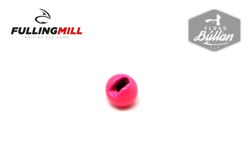 Fulling Mill Painted Fluo Pink Slotted Tungsten Beads - Flugubúllan