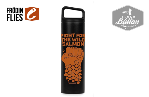 Black 'Wild Salmon' Wide Mouth Thermos Bottle - Flugubúllan