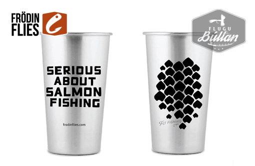 Stainless Steel 'Scales' Pint Cup - Flugubúllan