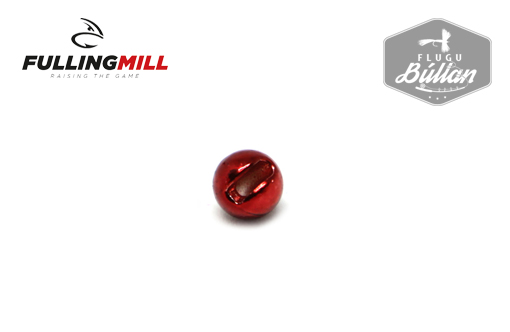 Fulling Mill Metallic Red Slotted Tungsten Beads - Flugubúllan