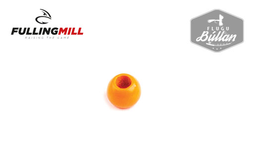 Fulling Mill Fluo Orange Brass Beadheads - Flugubúllan