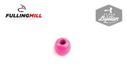 Fulling Mill Fluorescent Pink Painted Brass Beads - Flugubúllan