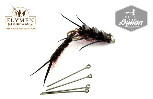 Nymph-Head Articulated Wiggle-Tail Shank - Flugubúllan