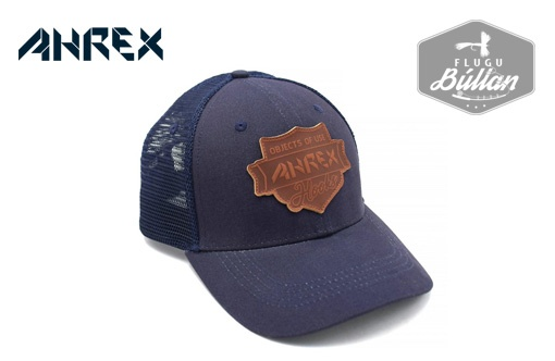 Ahrex Leather Patch Trucker Navy - Flugubúllan